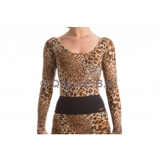 QueenE Marilene top leopard