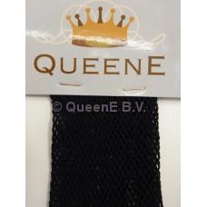 QueenE Fishnet panty zwart met verstevigde voet