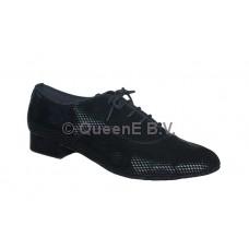 QueenE 250310 in black velvet ballroom dansschoen