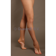 Fishnet panty met ring light tan