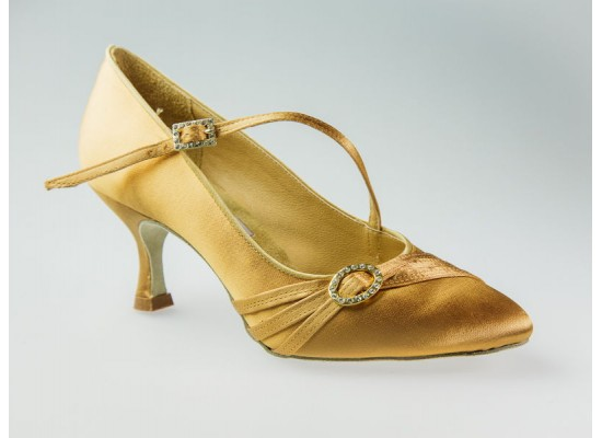 Aida Ballroom Model 040C with a 2.5 inch flare heel