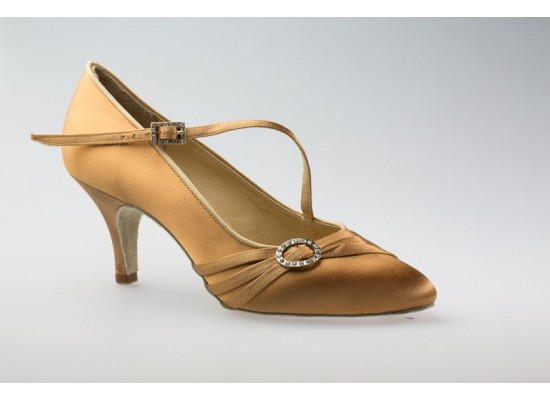 Aida ballroom model 040C with a 2.5 inch slim heel