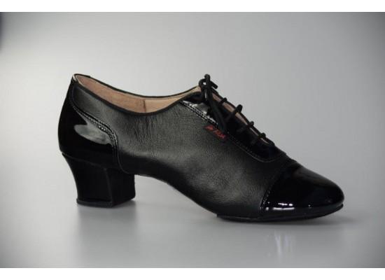 "Aida latin model 135 ""Surkov"" black leather/black patent 4 cm heel"