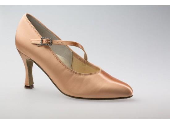 DSI Paris Court shoe (Flesh) with a 3 inch flare heel