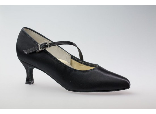 DSI Paris Court shoe (Black) with a 2.5 inch flare heel