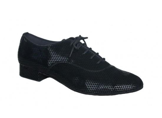 QueenE Men Ballroom dance shoe in black velvet