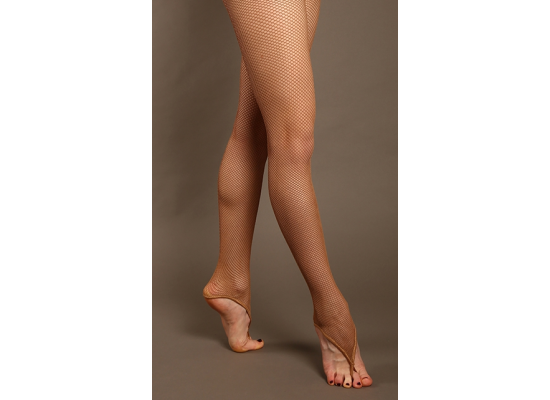QueenE Fishnet panty latin tan with ring tan