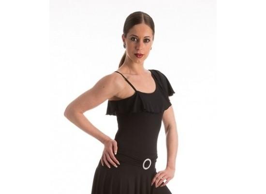 QueenE Elisa top zwart