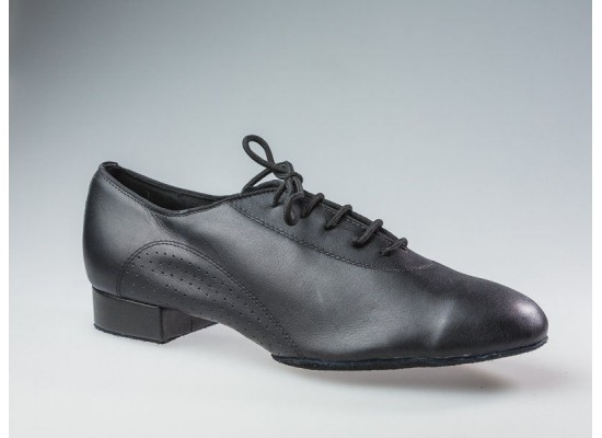 QueenE Men Ballroom dance shoe in black leather