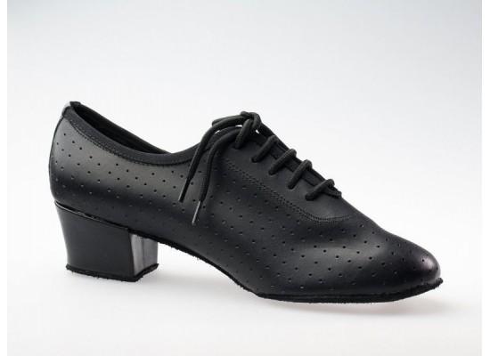 QueenE trainingschoen zwart leer 4 cm hak