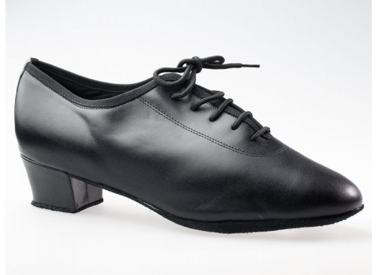 QueenE Men Latinshoe in black leather