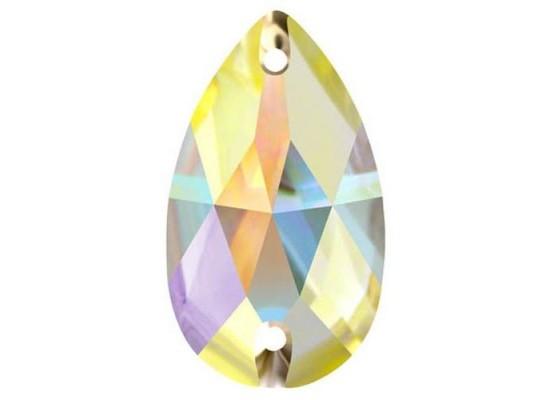 QG sew-on rhinestones drop Crystal AB 10,5 x 18
