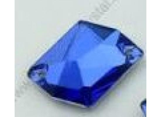 QG sew-on rhinestones Cosmic Capri Blue 14x17