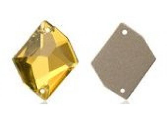 QG sew-on rhinestones Cosmic Gold Beryl 14x17