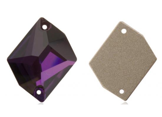 QG sew-on rhinestones Cosmic Deep Tanzanite 14x17